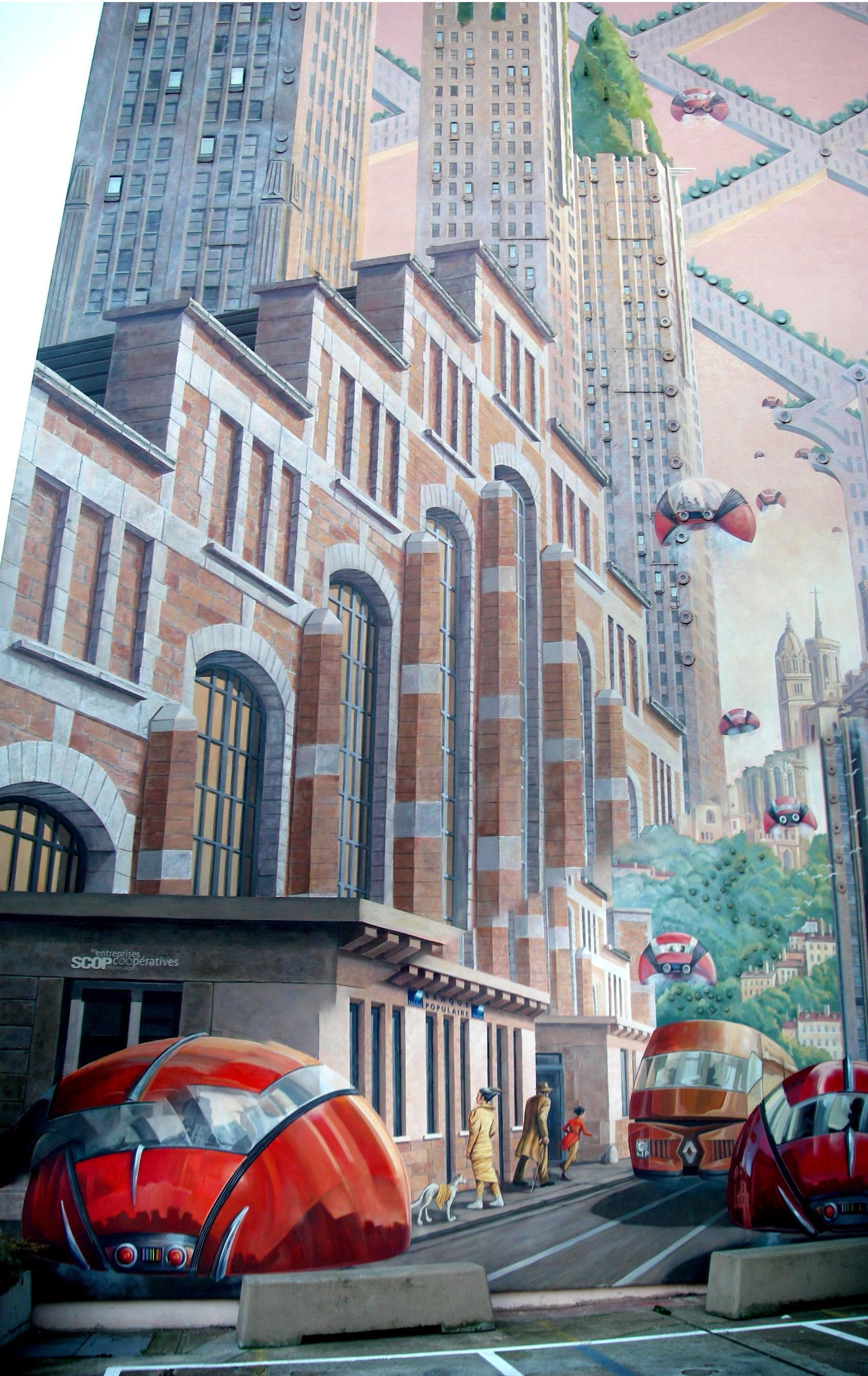 Mur peint à Gerland