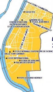 Lyon 7ème Plan simplifié