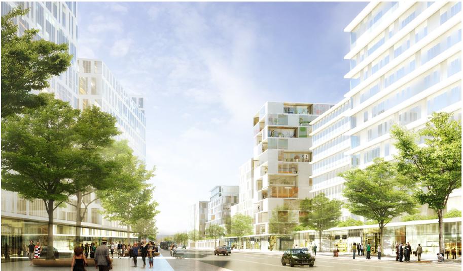L'avenue Jean Jaurès selon le projet Gerland