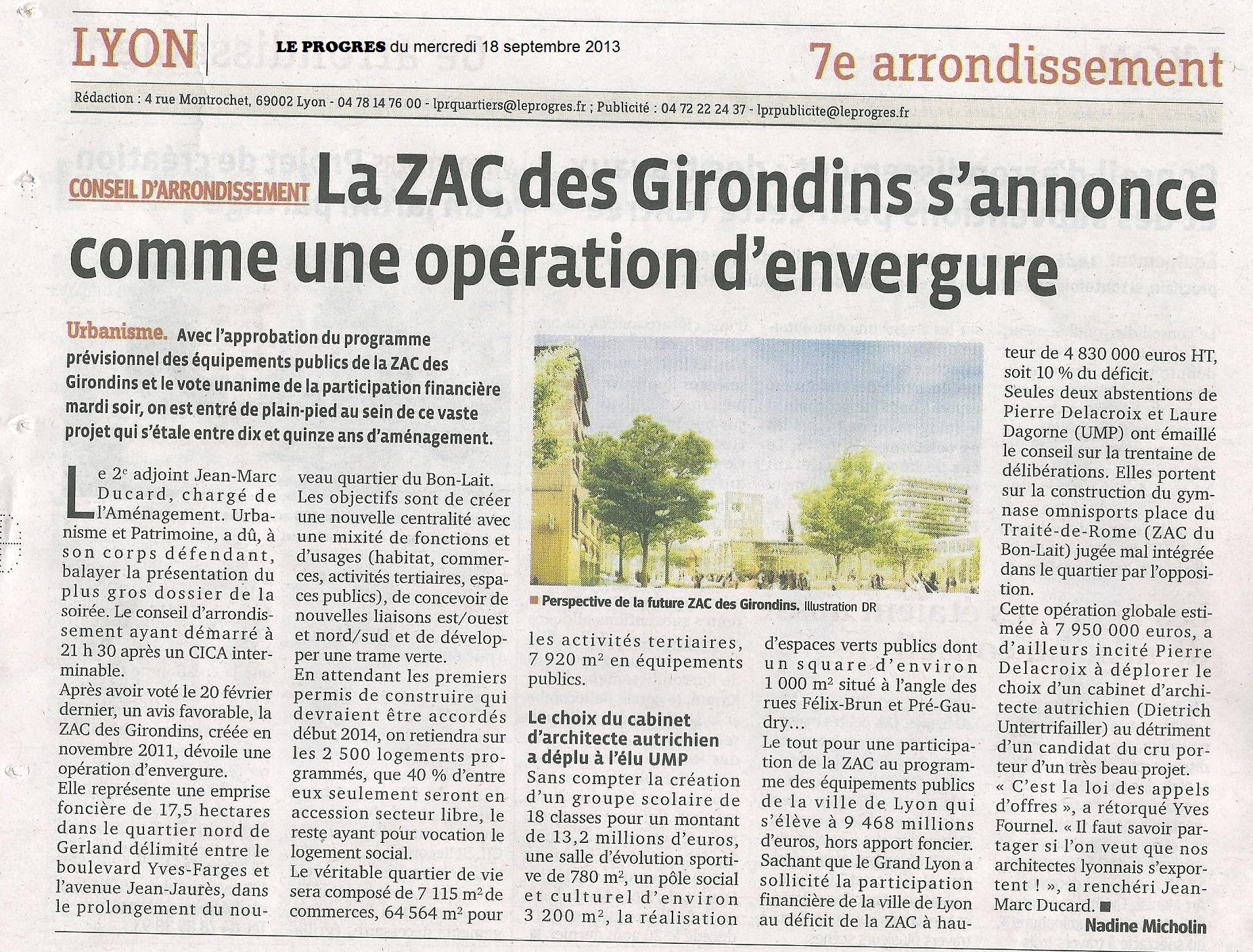ZAC des Girondins