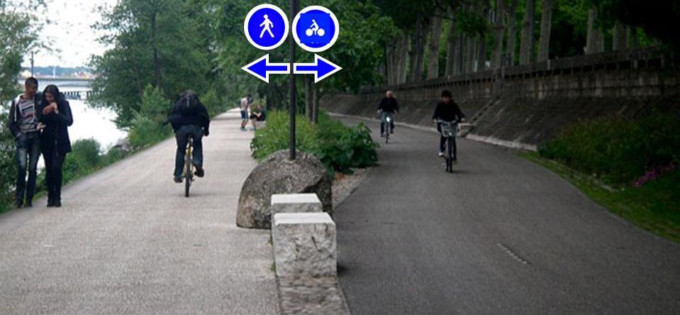 Signalisation à faire pour la piste cyclable des berges