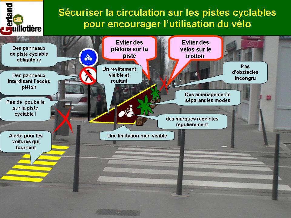 Sécuriser les pistes cyclables