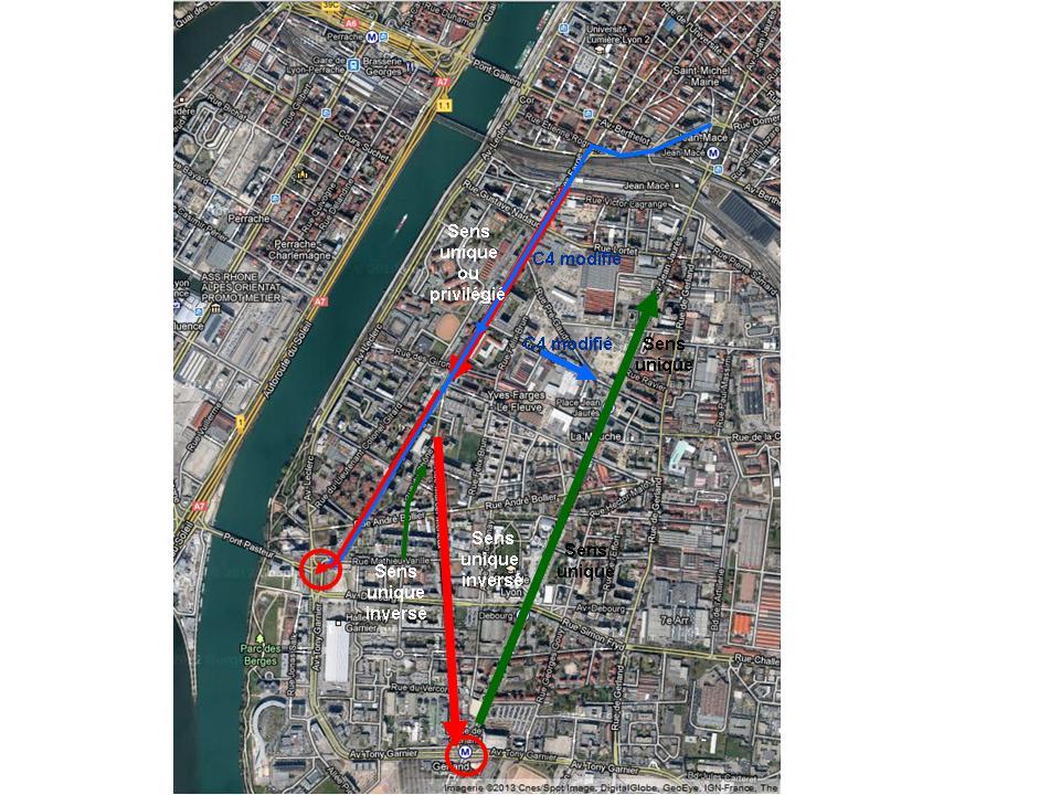 Plan de circulation amélioré