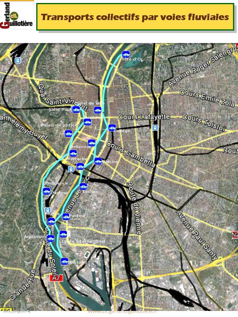 Plan des navettes fluviales