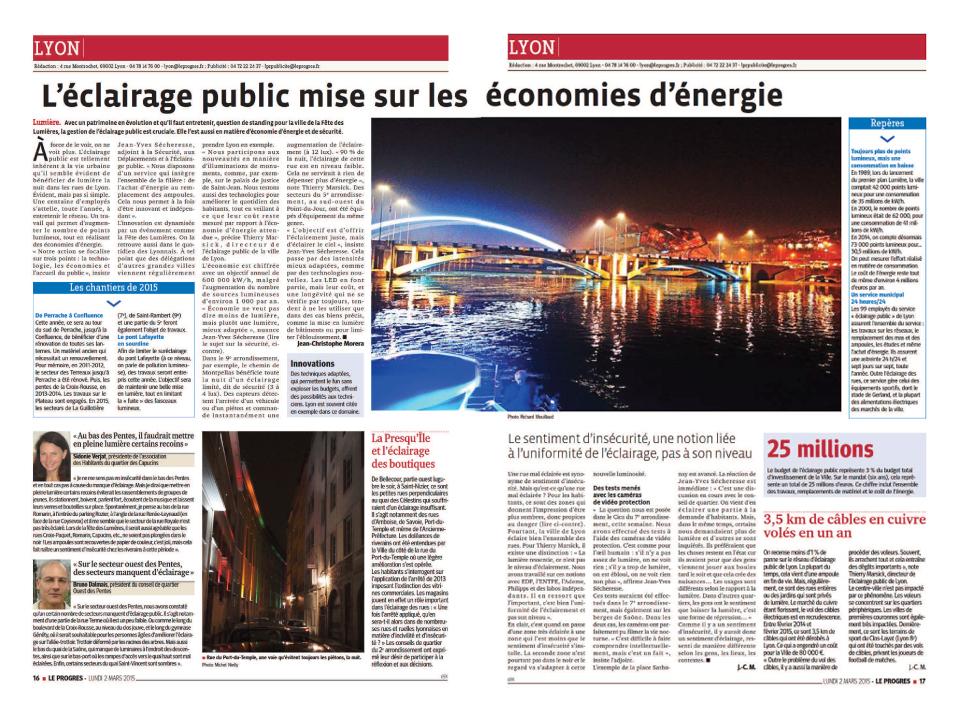 L'éclairage public à Lyon et dans le 7ème