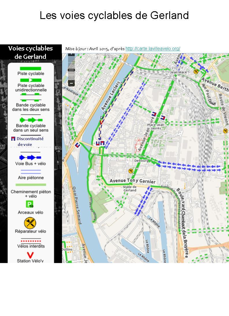 Plan des voies cyclables du 7ème 2015-04