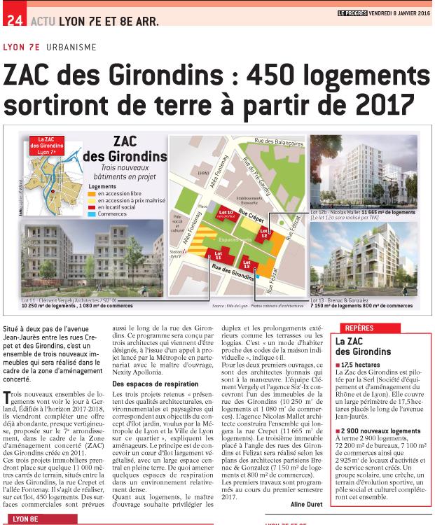 La ZAC des Girondins-Janvier 2015
