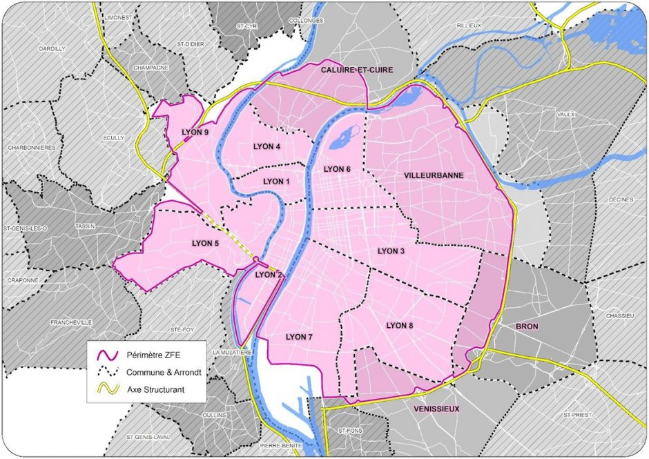 Zone à faible émission à Lyon